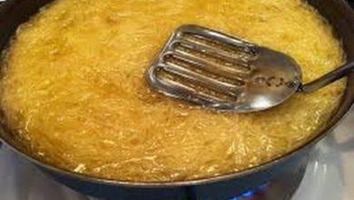صورة طريقة عمل الكنافة على البوتاجاز